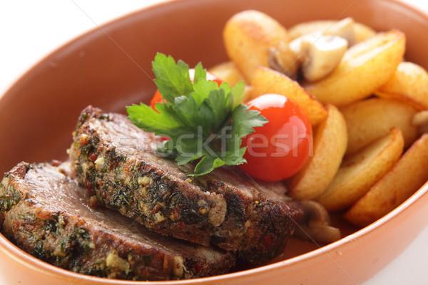 мяса гарнир свежие вкусный продовольствие ресторан Сток-фото © fiphoto