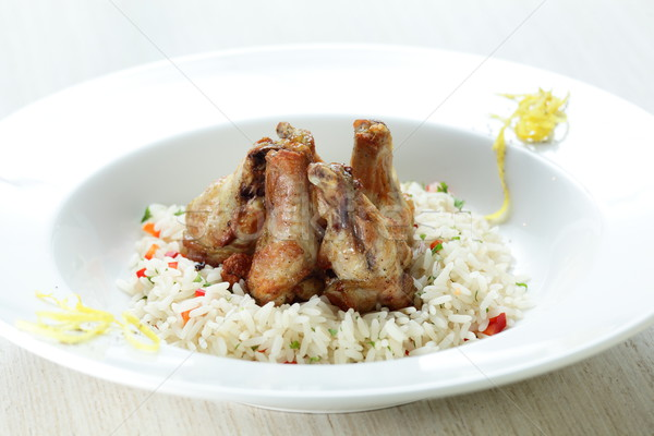 Chicken legs with rise Stock photo © fiphoto