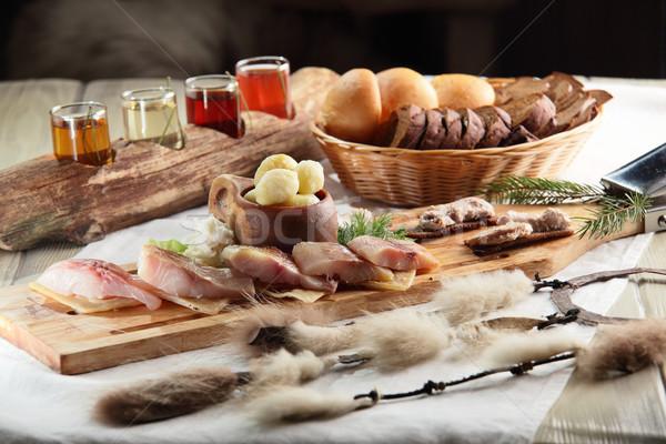 Carne enfeite fresco saboroso comida restaurante Foto stock © fiphoto