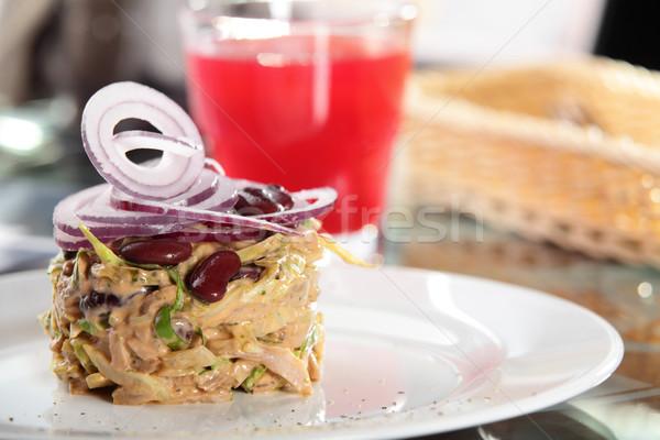 Fresco salada diferente legumes saboroso europeu Foto stock © fiphoto