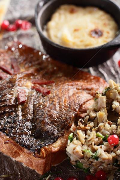 Carne enfeite quente saboroso comida restaurante Foto stock © fiphoto