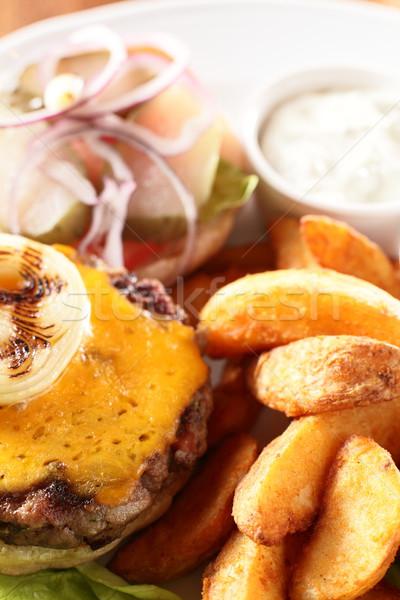 Carne grelhado batata quente saboroso Foto stock © fiphoto