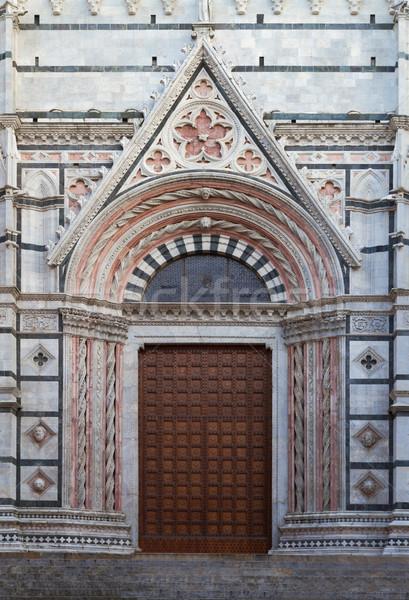 Entrada catedral Toscana Italia puerta arte Foto stock © fisfra