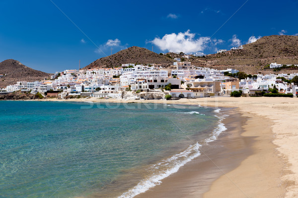 Village in Andalusia at seaside, Cabo de Gata, Spain Stock photo © fisfra
