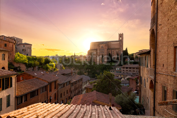 Historical town of Siena with San Domenico, Tuscany, Italy Stock photo © fisfra