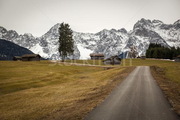 Buckelwiesen with Karwendel Mountains, Bavaria, Germany Stock photo © fisfra