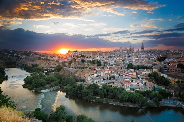 Sunset in Toledo, Castile-La Mancha, Spain Stock photo © fisfra