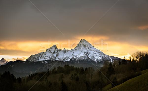 Watzmann at sunset, Berchtesgadener Land, Germany Stock photo © fisfra