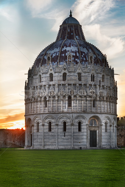 Baptistry of Pisa, Tuscany, Italy Stock photo © fisfra