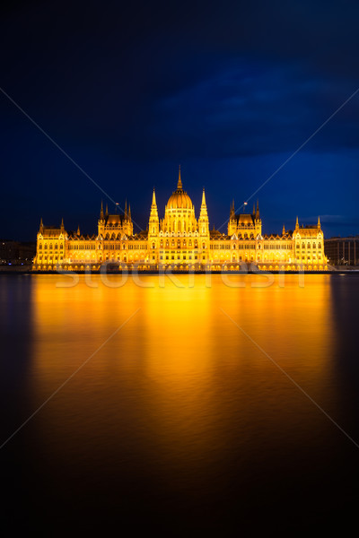 Hungarian Parliament Building in golden light, Budapest Stock photo © fisfra