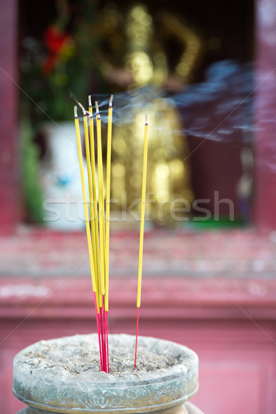 Burning joss sticks in pagoda, Saigon, Vietnam Stock photo © fisfra