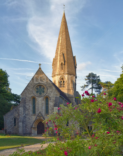 Old Church in Cotswolds, Leafield, UK Stock photo © fisfra