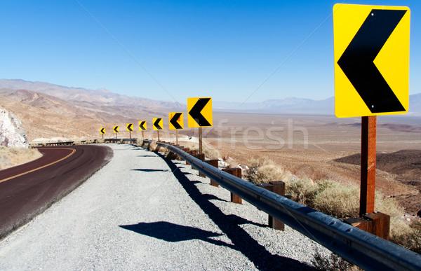 смерти долины острый кривая небе автомобилей Сток-фото © fisfra