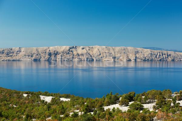 Adriatic Sea and Krk Island, Croatia Stock photo © fisfra