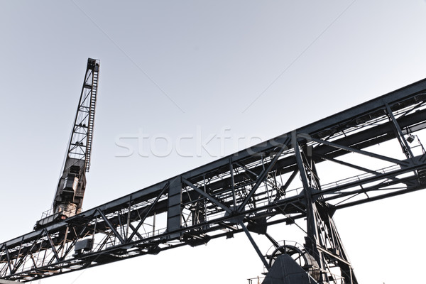 Dockside crane in Inner Harbour of Karlsruhe, Germany Stock photo © fisfra