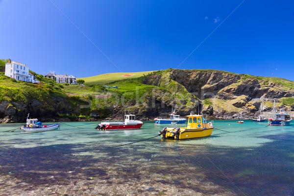 Színes halászat hajók kikötő kikötő Cornwall Stock fotó © fisfra