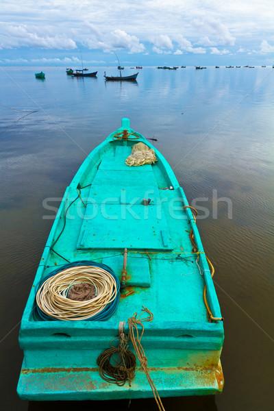 Turkus rybak łodzi szynka Wietnam niebo Zdjęcia stock © fisfra