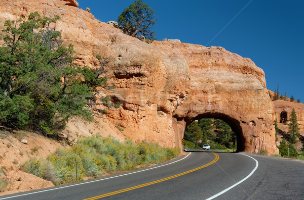 Stock photo: Winding Road at Red Canyon (close to Bryce Canyon National Park), Utah, USA
