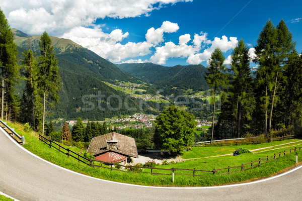 Valley in South Tyrol, Dolomites, Italy Stock photo © fisfra