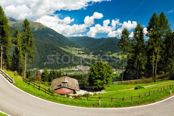 Valle meridionale Italia cielo nubi natura Foto d'archivio © fisfra