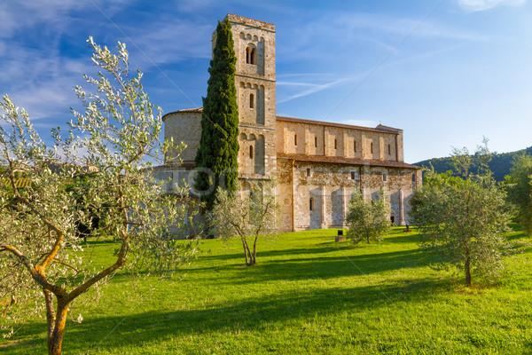 Sant Antimo Abbey near Montalcino, Tuscany, Italy Stock photo © fisfra