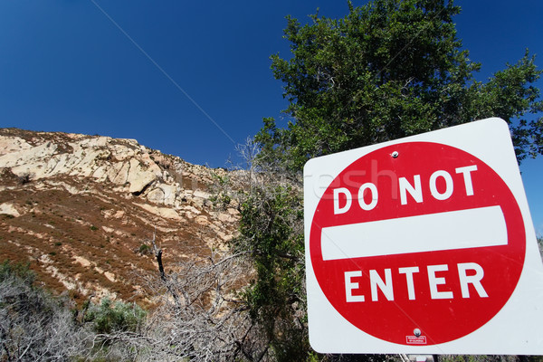 Traffic sign 'Do not enter' in San Luis Obispo County Stock photo © fisfra