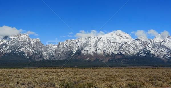 Dağlar park Wyoming ABD yeşil mavi Stok fotoğraf © fisfra