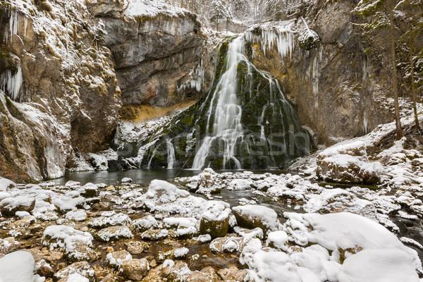 Gollinger Waterfalls at wintertime, Austria Stock photo © fisfra