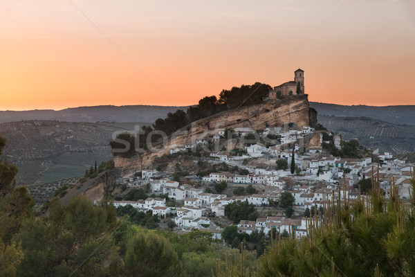 Montefrio at sunset, Province of Granada, Spain Stock photo © fisfra