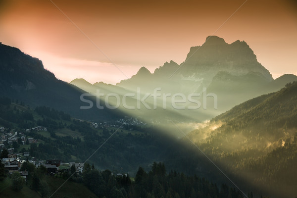 Monte Civetta in morning light, Dolomites, Alps, Italy Stock photo © fisfra