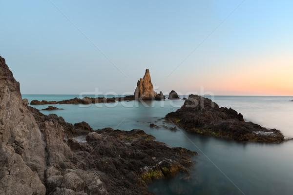 Tengeri kilátás Spanyolország égbolt víz tenger óceán Stock fotó © fisfra