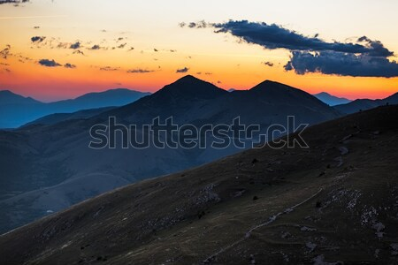 сумерки гор Италия облака закат фон Сток-фото © fisfra