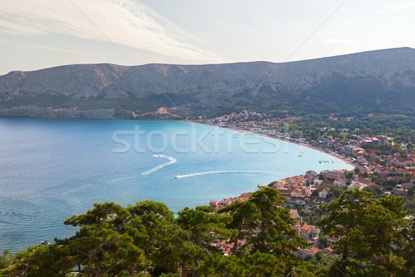 пляж острове Хорватия пейзаж морем лодка Сток-фото © fisfra