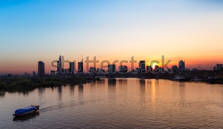 Saigon Skyline at sunset, Vietnam Stock photo © fisfra