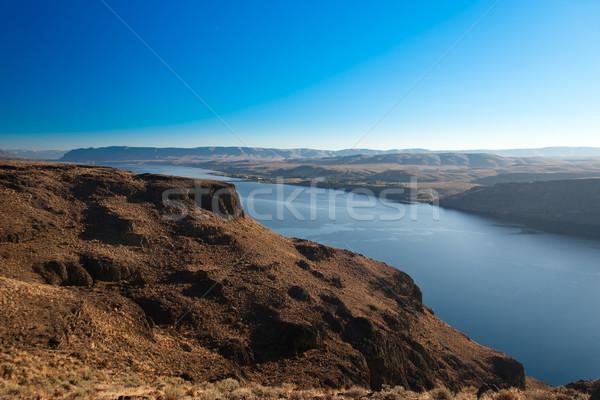 Canyon of Columbia river, (view from Wanapum Vista view point), Washington, USA Stock photo © fisfra