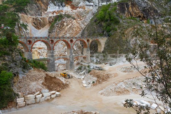 Marble quarry (Ponti di Vara) near Carrara, Tuscany, Italy Stock photo © fisfra