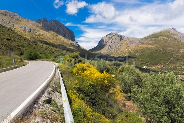 Passz út Spanyolország égbolt felhők természet Stock fotó © fisfra