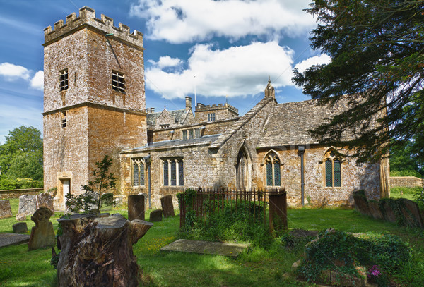 St. Mary Church in Cotswolds, Chastleton, UK Stock photo © fisfra