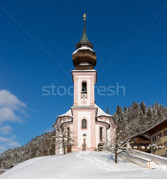 Maria Gern Chapel in Berchtesgadener Land, Bavarian Alps, German Stock photo © fisfra