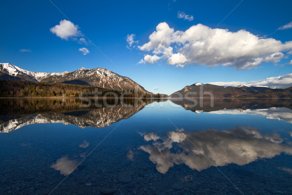 Reflection in Walchensee, German Alps, Bavaria, Germany Stock photo © fisfra