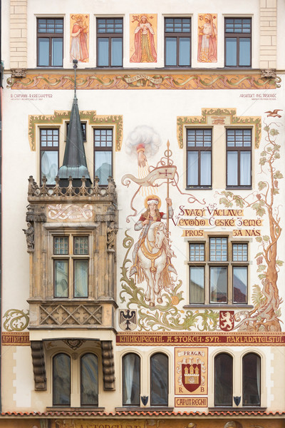 Historic house in Prague, Czech Republic Stock photo © fisfra