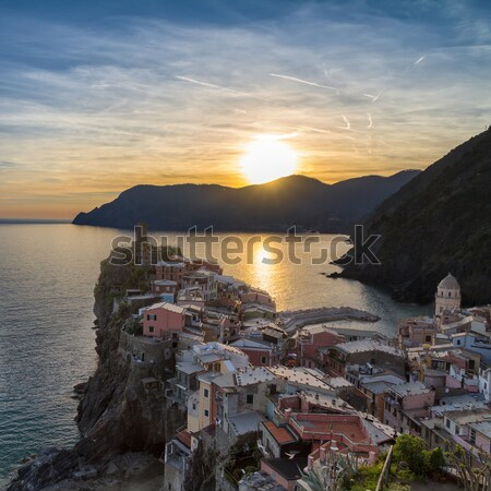 Vernazza before sunset, Cinque Terre, Italy Stock photo © fisfra