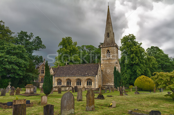 St Mary's Church with graveyard in Cotswolds, Lower Slaughter, UK Stock photo © fisfra