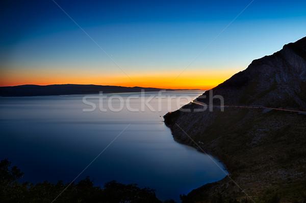 Colorful sunset at Adriatic Sea, Croatia Stock photo © fisfra