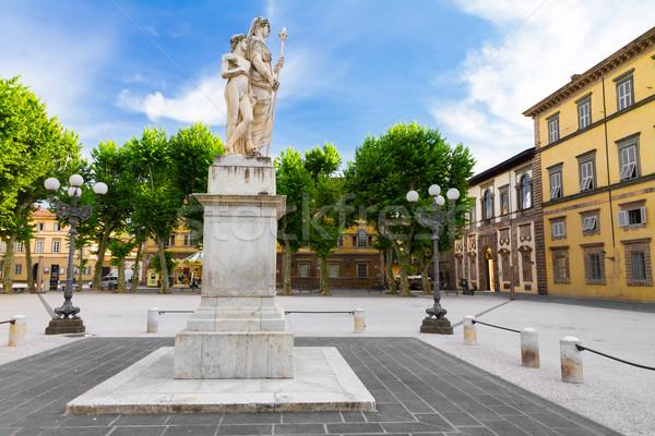 Piazza Napoleone in Lucca, Tuscany, Italy Stock photo © fisfra