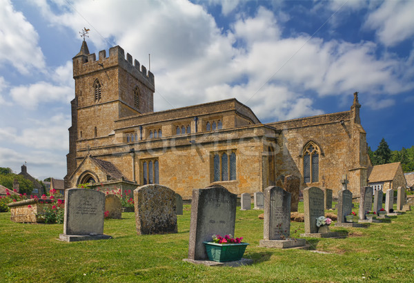 Saint Lawrence Church in Cotswolds, Burton-on-the-Hill, UK Stock photo © fisfra