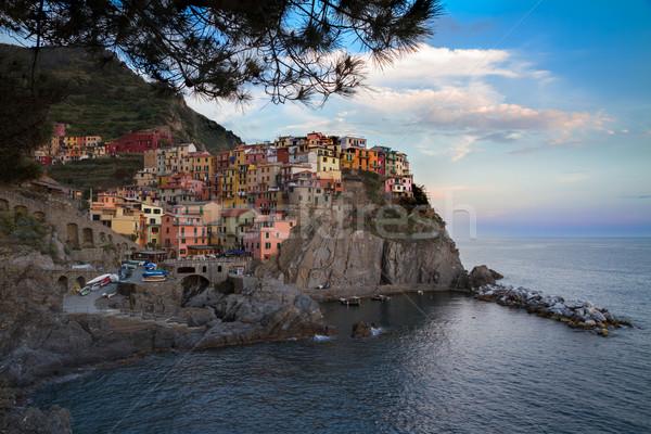 Frazione blu Italia nubi panorama mare Foto d'archivio © fisfra