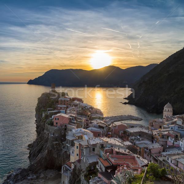 Tramonto Italia cielo acqua panorama mare Foto d'archivio © fisfra