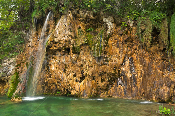 водопада парка Хорватия пейзаж зеленый осень Сток-фото © fisfra