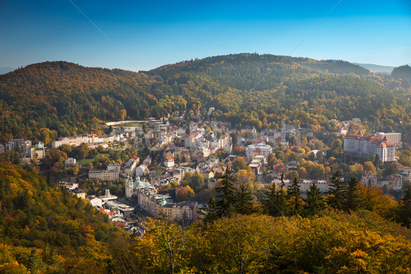 Carlsbad at autumn time at a cloudless day, Czech Republic Stock photo © fisfra